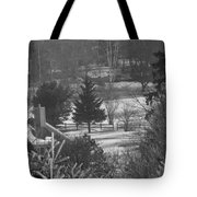 Foggy Frosty Morning Tote Bag