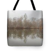 Foggy Lagoon Reflection #5 Tote Bag