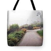 Foggy Langmoor Gardens - Lyme Regis Tote Bag