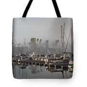 Foggy Marina Morning 2 Tote Bag