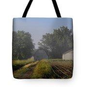 Foggy Mist Lane Tote Bag