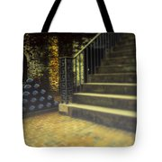 Foggy Morning At The Fort Tote Bag