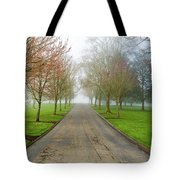 Foggy Morning At The Park Tote Bag