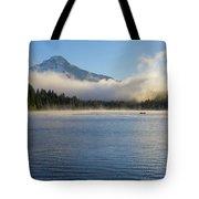 Foggy Morning At Trillium Lake Tote Bag