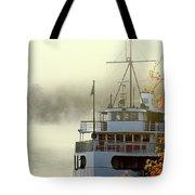 Foggy Morning Cruise Tote Bag