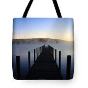 Foggy Morning Docks 1 Tote Bag