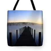 Foggy Morning Docks 1 Tote Bag