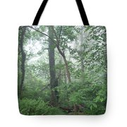 Foggy Morning In The Woods Tote Bag