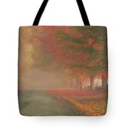 Foggy Morning On Cloudland Road Tote Bag