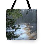 Foggy Morning On Lower Tahquamenon Falls Tote Bag