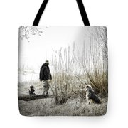 Foggy Morning On The Beach... Tote Bag