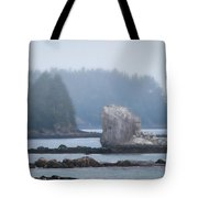 Foggy Morning On The Pacific Coast Tote Bag