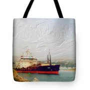 Foggy Morro Bay Tote Bag