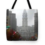 Foggy Philadelphia Tote Bag