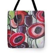 Foggy Poppy Tote Bag