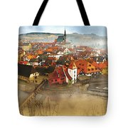 Foggy Small Town Tote Bag