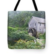 Foggy Stony Brook Grist Mill Cape Cod Tote Bag