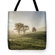 Foggy Sun Rise Tote Bag