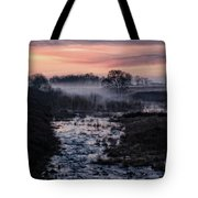 Foggy Sunrise At Chasewater Tote Bag