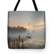 Foggy Sunrise At Great Pond 3 Tote Bag