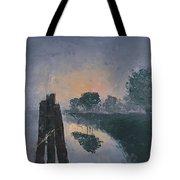 Foggy Sunrise At The Locks Tote Bag