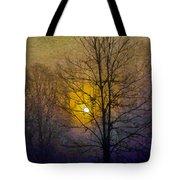 Foggy Sunset Tote Bag