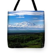 Foggy Valley  Tote Bag