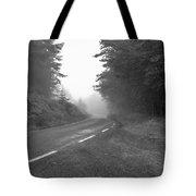 foggy way  BW Tote Bag