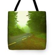 Foggy Way.  Tote Bag