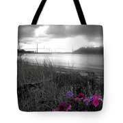 Foggy, Wet View Tote Bag