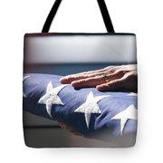 Folded American Flag Tote Bag