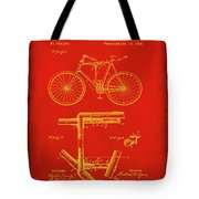 Folding Bycycle Patent Drawing 1c Tote Bag
