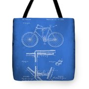 Folding Bycycle Patent Drawing 1d Tote Bag