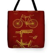 Folding Bycycle Patent Drawing 1f Tote Bag