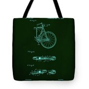 Folding Bycycle Patent Drawing 2a Tote Bag