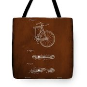 Folding Bycycle Patent Drawing 2c Tote Bag