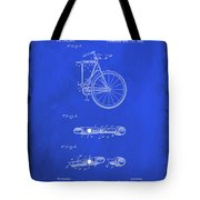 Folding Bycycle Patent Drawing 2d Tote Bag