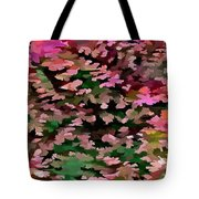 Foliage Abstract In Pink, Peach And Green Tote Bag