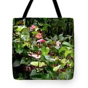 Foliage And Flowers Tote Bag
