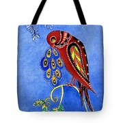 Folk Art Bird Tote Bag