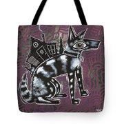 Dog House Folk Art Tote Bag