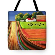 Folk Art Farm Tote Bag