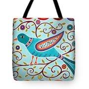 Folk Bird Tote Bag
