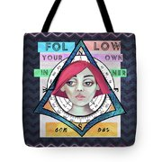 Follow Your Own Inner Compas Tote Bag