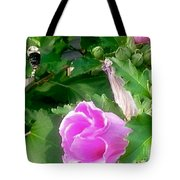 Following A Bumble Bee In Flight Tote Bag