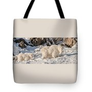 Following Nanny Up The Hill Tote Bag