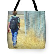 Following The Fence Home Tote Bag