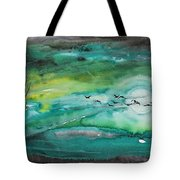Following The Moon Tote Bag
