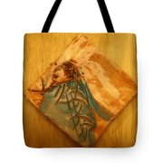 Follows Me - Tile  Tote Bag