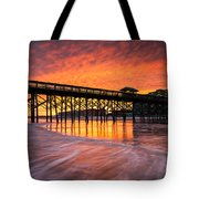 Folly Beach Pier And Waterfront Development Charleston South Carolina Tote Bag